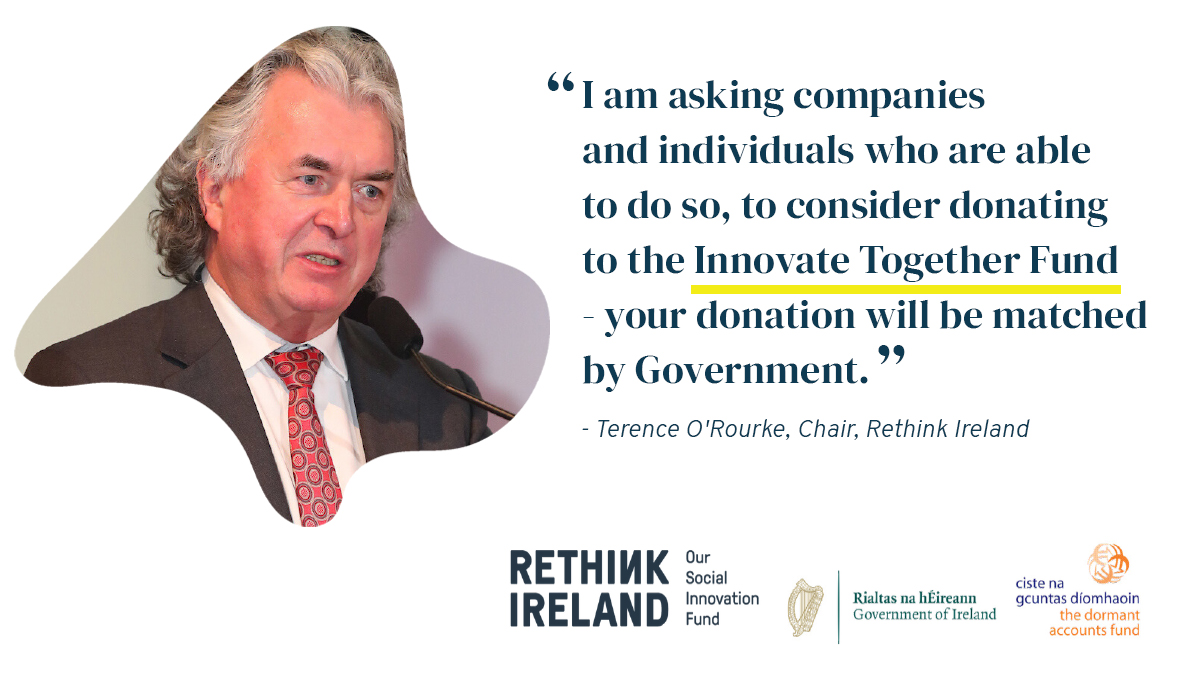 Calling all donors - the #InnovateTogether Fund needs you! We're looking for trailblazing companies and individuals who can support those working at the forefront of the #COVID19 response in Irish society. Contact businessdevelopment@rethinkireland.ie to find out how you can help https://t.co/c4ZxLX6J2G
