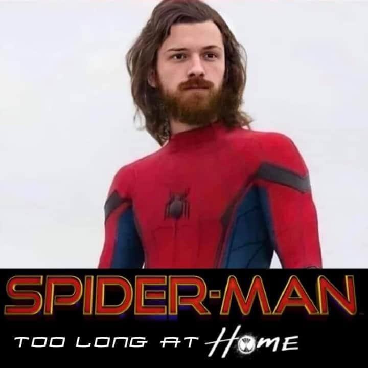 Quarantine has gotten us all... #SpiderMan #TomHolland #Quarantine pic.twitter.com/zShFXEisQ6