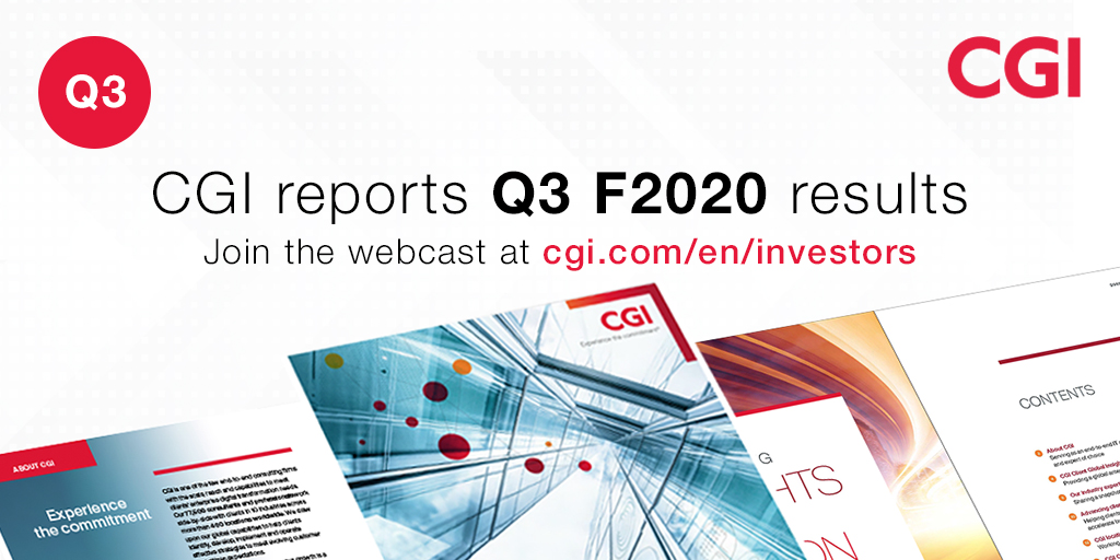 "CGI Global on Twitter: ""CGI reports Q3 Fiscal 2020 #results https ..."
