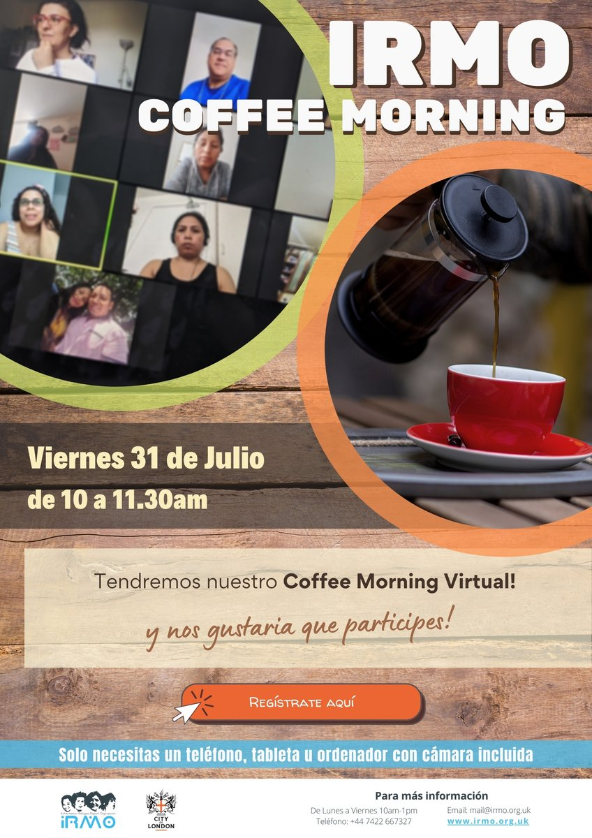 Were hosting our third virtual community coffee morning this Friday 31st July from 10-11.30am, a space for the community to connect and share during this difficult time @CityBridgeTrust