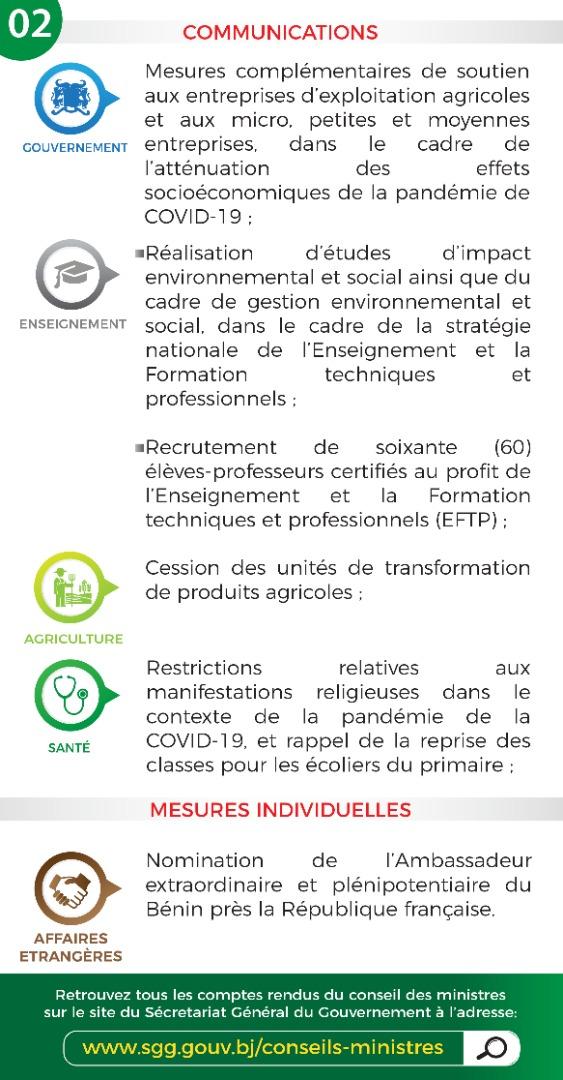 EeGb75hXYAUJQAY?format=jpg&name=medium - Bénin: les grandes décisions du Conseil des ministres du 29 juillet 2020