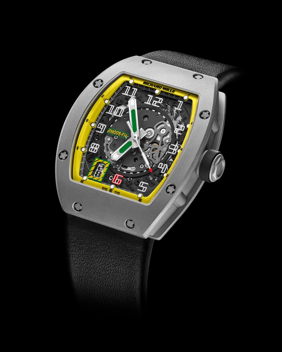 As the first member of what has become our large family of partners, @MassaFelipe19 inaugurated this RM 005 FM, Richard Mille's first limited edition in colours inspired by the Brazilian flag. #historicalmodels #RM005