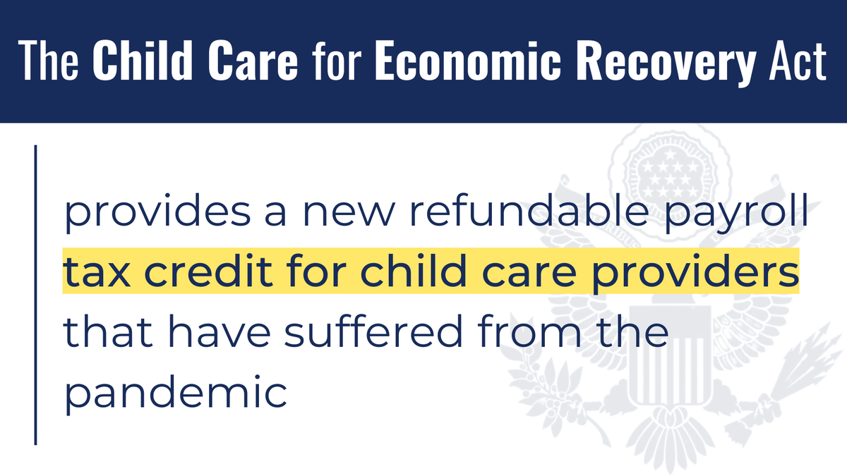 It will help parents carry over their dependent care flexible spending account contributions to next year and expand the Employee Retention Tax Credit to help employers of domestic workers retain those employees.