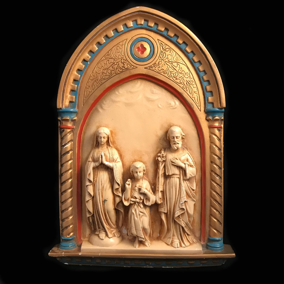 Holy Family Bas Relief, 1931  https://t.co/jdcnQDkTWi  *** Get 10% OFF when you join our newsletter ***  #thevintagecatholic #Catholictwitter  #holyfamily #Saintjoseph #Madonna #VirginMary #SacredHeartofJesus https://t.co/IiJEI4Wjev