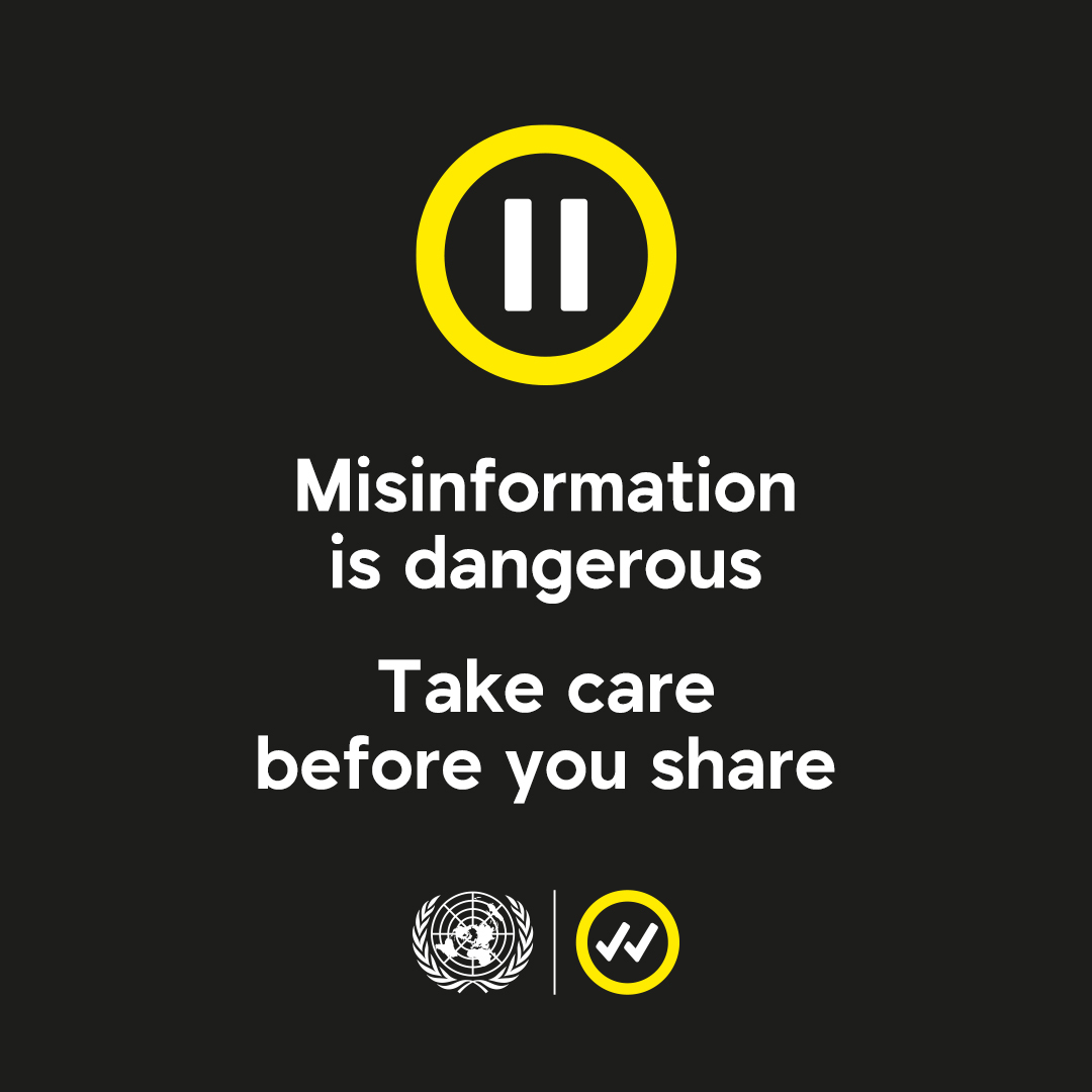 Facts can easily get distorted online and lead to harmful or dangerous misinformation. We can all take action now. Pause & take time to verify facts before you share something online. #TakeCareBeforeYouShare shareverified.com