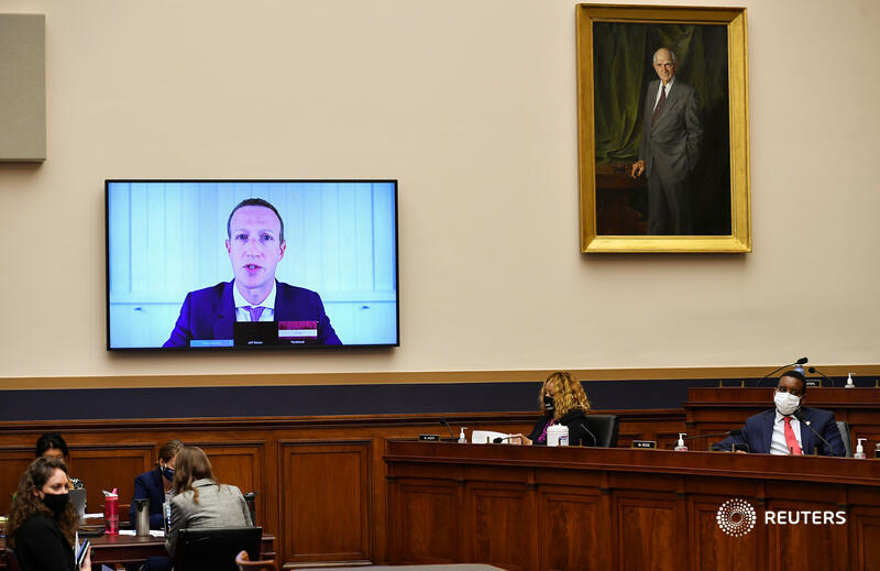 Big Tech bosses at a Washington hearing faced pointed questions about their firms squashing competitors. Cook, Bezos, Zuckerberg and Pichai have some self-examination to do, writes @GinaChon. https://t.co/as0CH11lrU https://t.co/DtEd21gHKz