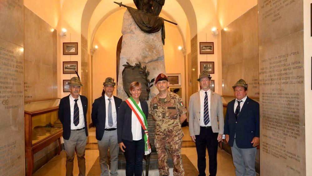 L'annuale celebrazione al Sacrario Militare di Cim...
