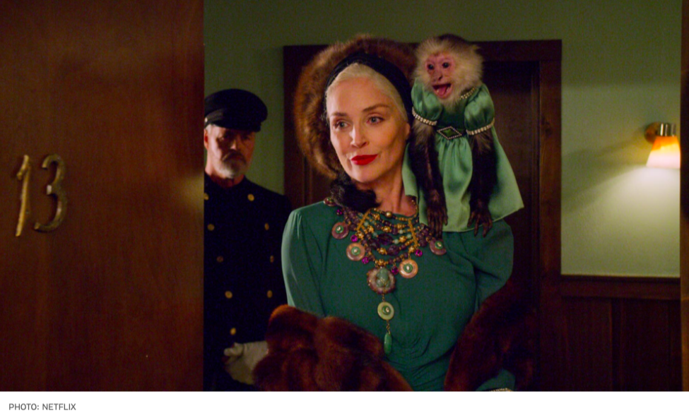 I am so unabashedly excited for the scene work between Sharon Stone and this monkey