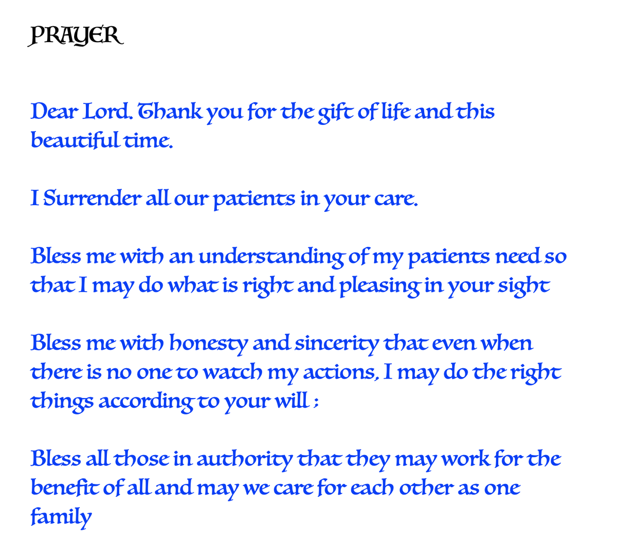 T 3609 - T 3609 - ..they work in extreme conditions, so our conditions are safe .. the Gods own angels in white PPE units , Doctors, nurses, support staff .. yet they still take time out to pray for who they struggle to cure - their patients ! This be their prayer everyday .. 🙏 https://t.co/8T6OMuC2SD