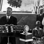 #OTD in 1929, President Herbert Clark Hoover laid the cornerstone for the @CommerceGov building. A former Secretary of Commerce, Hoover had been a strong advocate for the new facility, which was later renamed in his honor in 1982.