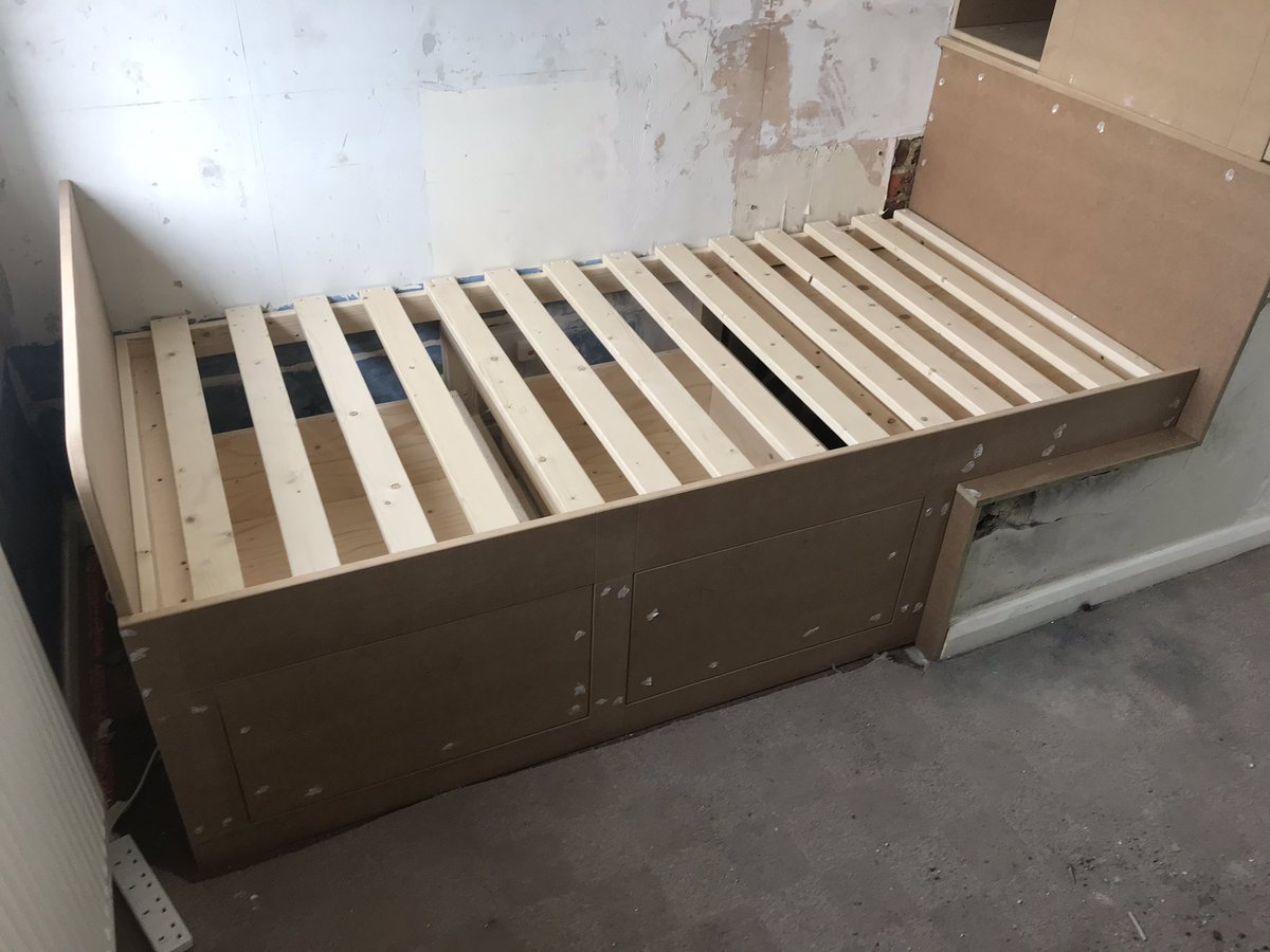 Ft Woodworks On Twitter Recent Box Room Build Bed And Wardrobe To Fit Over Stair Case Bulk Head