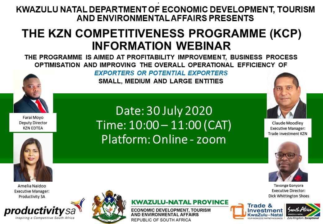 department of trade and investment kzn tourism