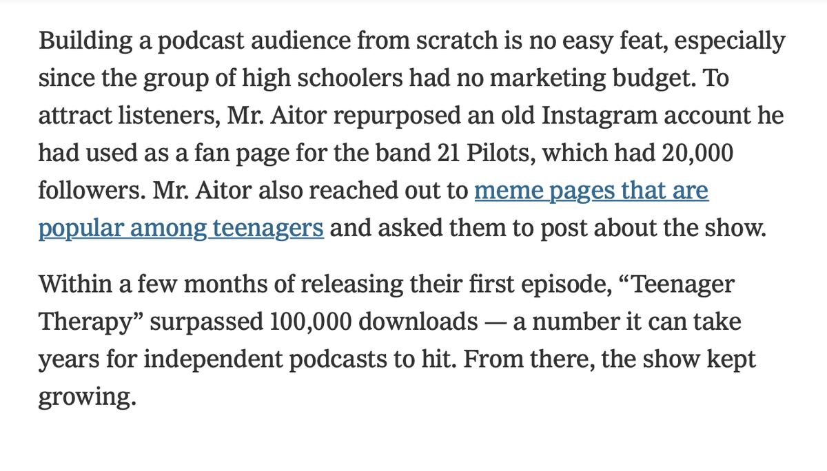 The teens have figured out podcast marketing. nytimes.com/2020/07/29/sty…