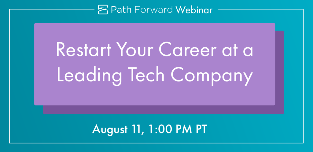 Want to learn first-hand what it's like to return to work at a leading tech company? Sign up forourAugust webinar, where returnship alumni from Facebook and other companies will share their successful return to work experience: https://www.pathforward.org/free-webinar-restart-your-career-at-leading-tech-company/…pic.twitter.com/cKMoTos6rg