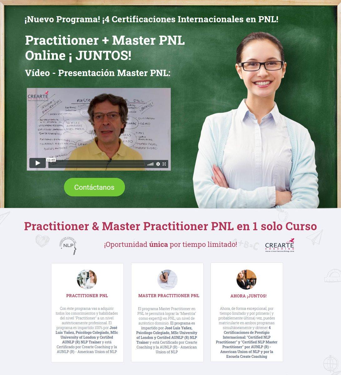 💥Programa Doble Certificación Global Online Practitioner + Master PNL ¡+40% de Descuento ....