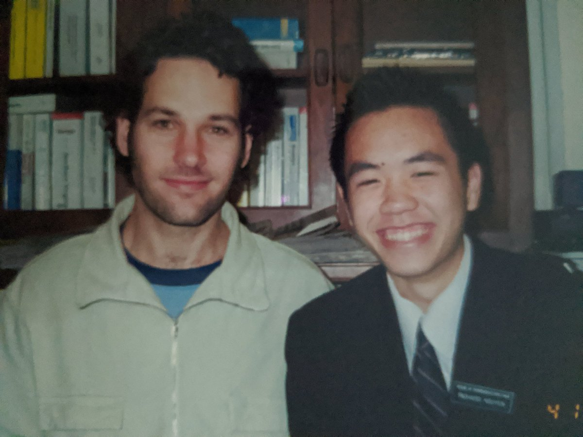 Paul Rudd is trending so here's a throwback pic of when I opened the door to the @HouseDemocrats cloakroom for Paul as a high school #CongressionalPage. https://t.co/0htAw0vuK3