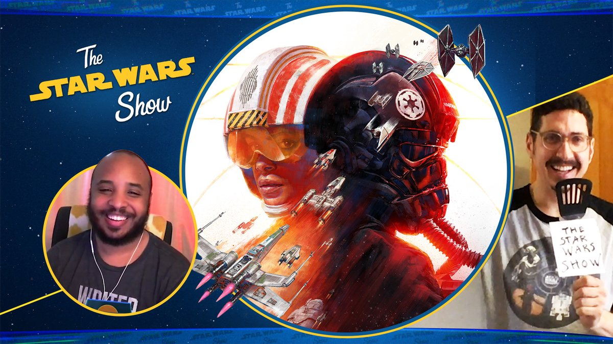 It's The #StarWarsShow! This month we get a hands on preview of #StarWarsSquadrons, interview filmmaker @JSim07, create our own summer convention at home, and much more! Presented by @GEICO #AD Watch here: strw.rs/6007Gj937