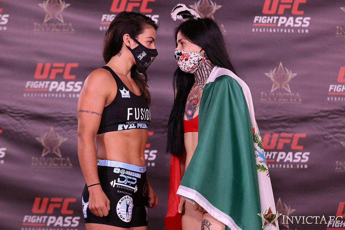 Mañana en VIVO #InvictaFC41 🇧🇷 @janaisamma VS @ConejoMad 🇲🇽  Sólo por @UFCFightPass 📺 https://t.co/hrWMnr0BgC