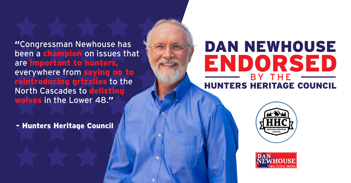 Honored to receive the endorsement from the Hunters Heritage Council! #WA04 https://t.co/h3XSRAqVXH