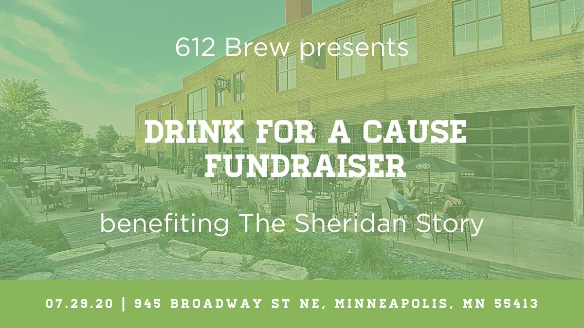 Get out & support a great cause tonight! @SheridanStory, helping kids with food insecurity. We have plenty of space on the patio for social distancing & we're accepting walk-up reservations. It's a beautiful day to help out so come join the cause. 4-10PM Wed 7/29 #drinkforacause https://t.co/7TI0BLHjG6
