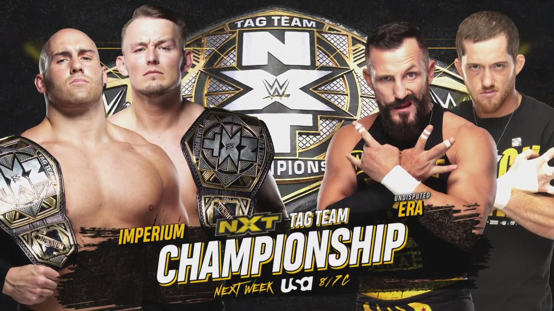 Grandes combates são anunciados para o próximo WWE NXT