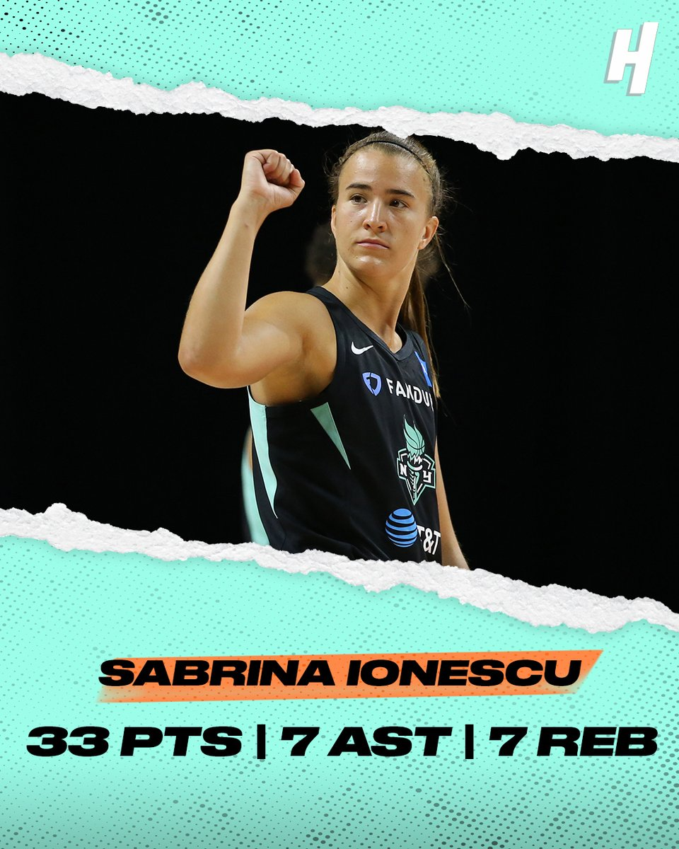 Sabrina did it all for the Liberty in her 2nd game 🔥