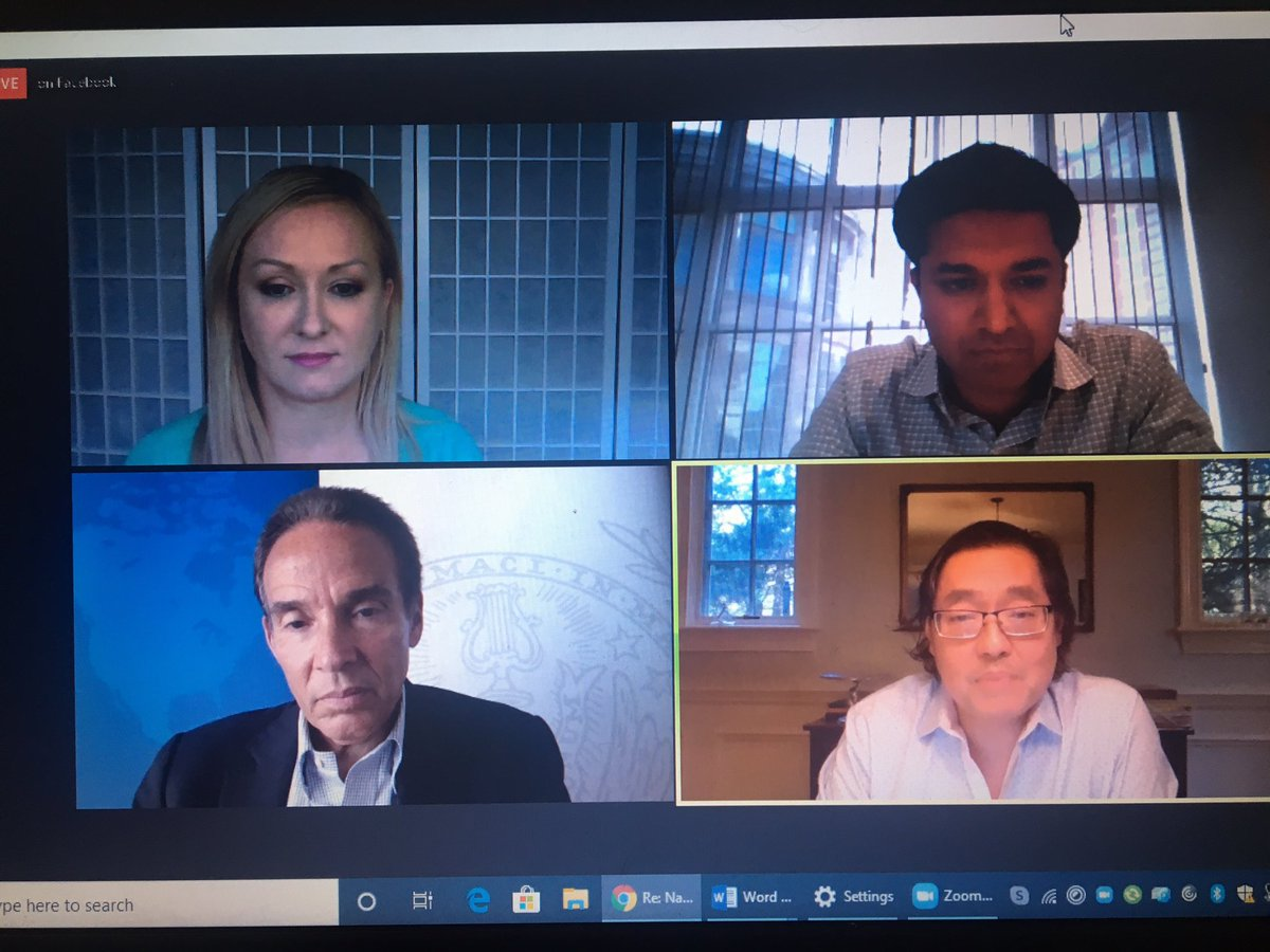 Such an incredible panel of experts-amazing insights into #technology during the age of COVID-19, #supplychains #cybersecurity #digitalhealth and #digitalequity ! @FountainHeadRI @tienwong @RajivKumarMD @kCyberElla @Ernstr_97 https://t.co/e6MSnfIlQd https://t.co/UQMUArlnuS
