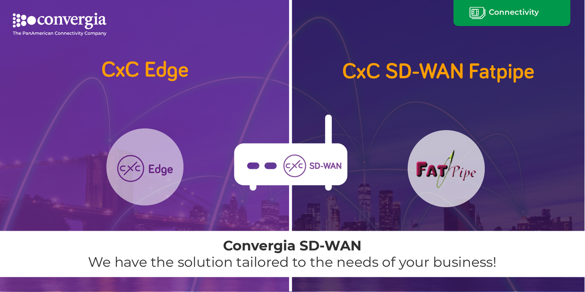 Are you looking for a solution that allows you more agility, security and reliability for your WAN? Many users are benefiting from our solutions: CxC SDWAN-FATPIPE & CxC Edge , learn more herehttp://bit.ly/SD-WAN-TW-July #ConnectivityByConvergia #SDWANpic.twitter.com/1Gtedu68Lv