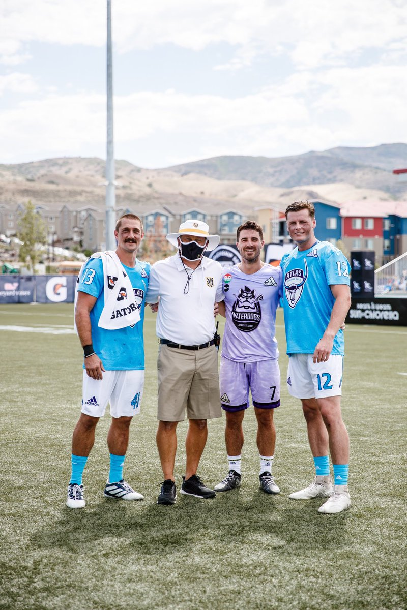 Just a bunch of #Hofstra guys playing pro lacrosse 🥍🥍 in Utah. What more could you ask for?  #RoarWithPride #HofstraFamily https://t.co/35HOyOBh9F