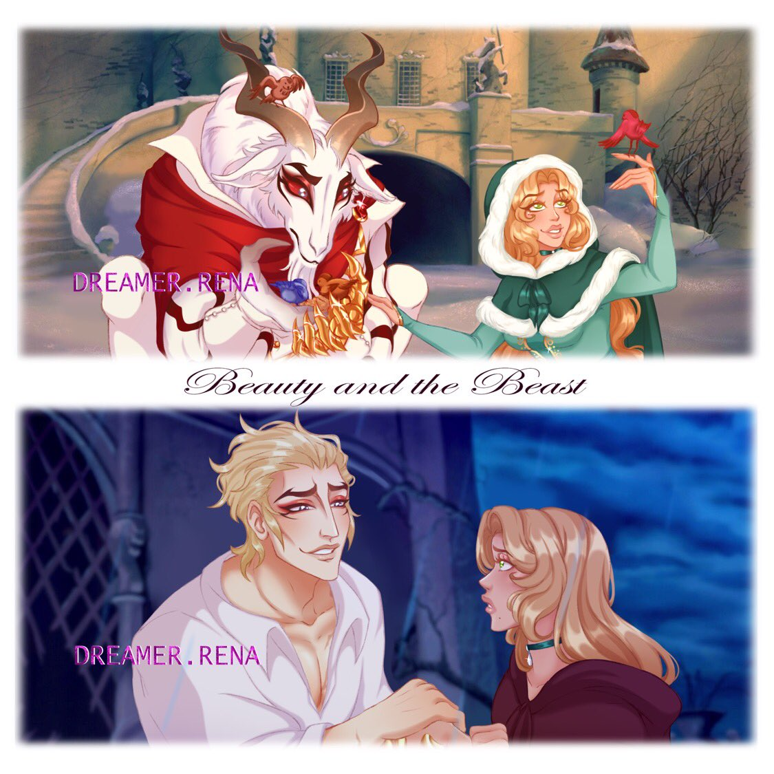 Beauty and the Beast another AU with Lucio and Clara  Lucio belongs to @thearcanagame #thearcana #TheArcanaGame #countlucio #luciomorgasson #montagmorgasson #thearcanalucio #renaocclarapic.twitter.com/8LLezMWK2u