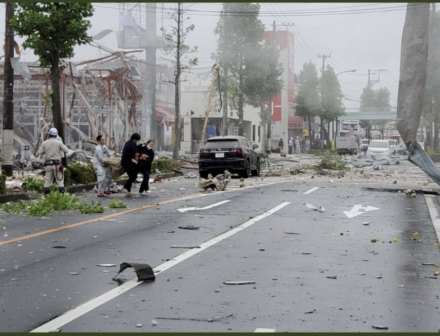 郡山市島のしゃぶしゃぶ温野菜でガス爆発の現場画像
