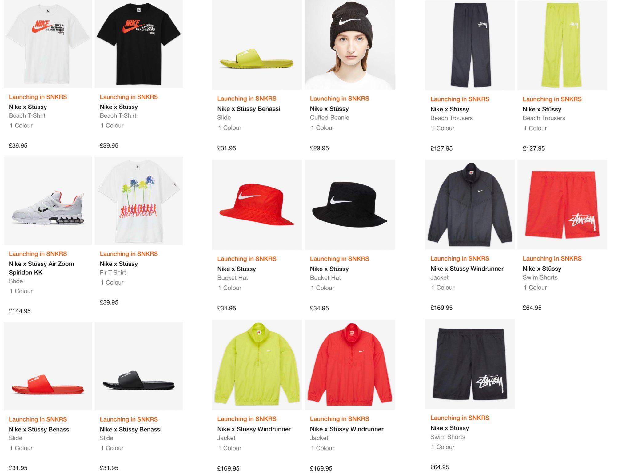 Snkr Twitr On Twitter Live In 10mins Via Nike Eu Stussy X Nike Full Collection Https T Co Mv88fd7j9i No Us Shipping Ad