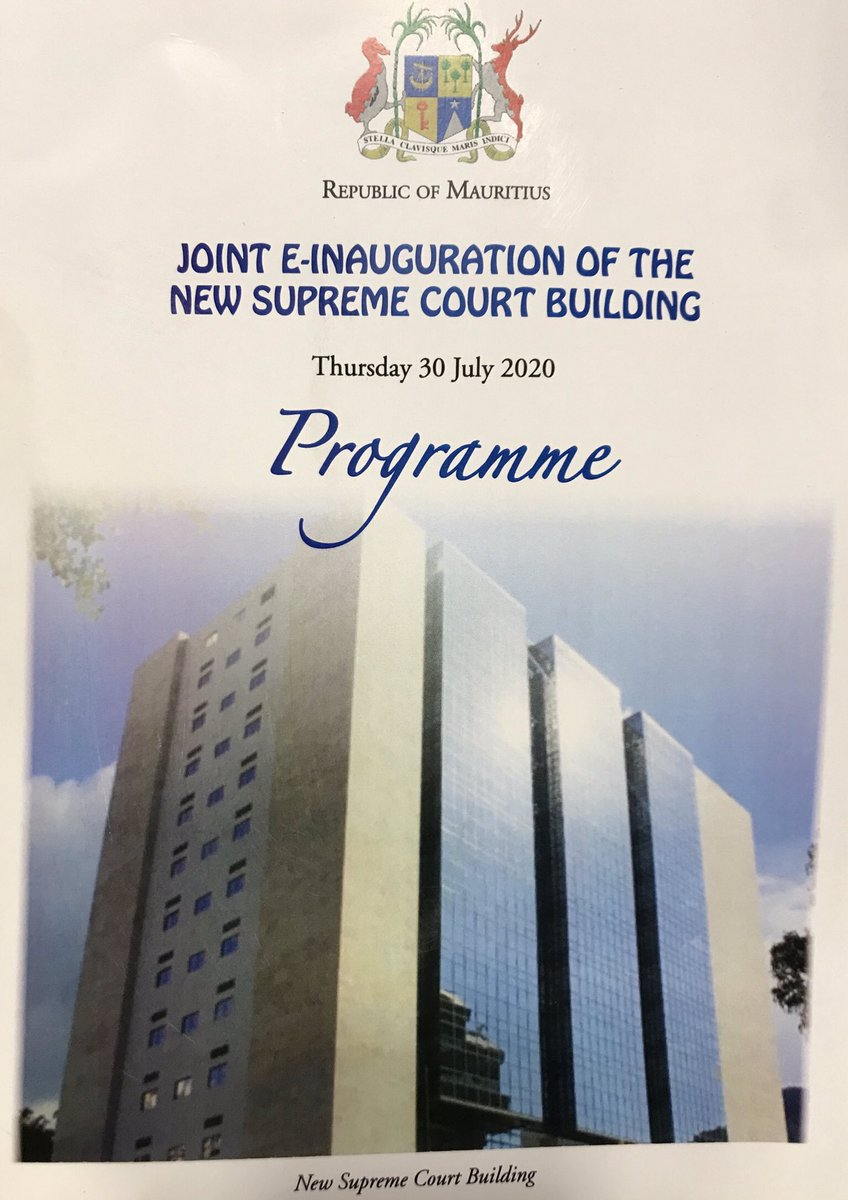 Congratulations to @PKJugnauth and @narendramodi on the inauguration of new Supreme Court building of #Mauritius - I have watched it grow on daily basis from my office! Will help to strengthen legal links between the UK & Mauritius. @Tanmaya_Lal @UKSupremeCourt @UKinIndia 🇬🇧🇲🇺🇮🇳 https://t.co/5AFXPUefHh