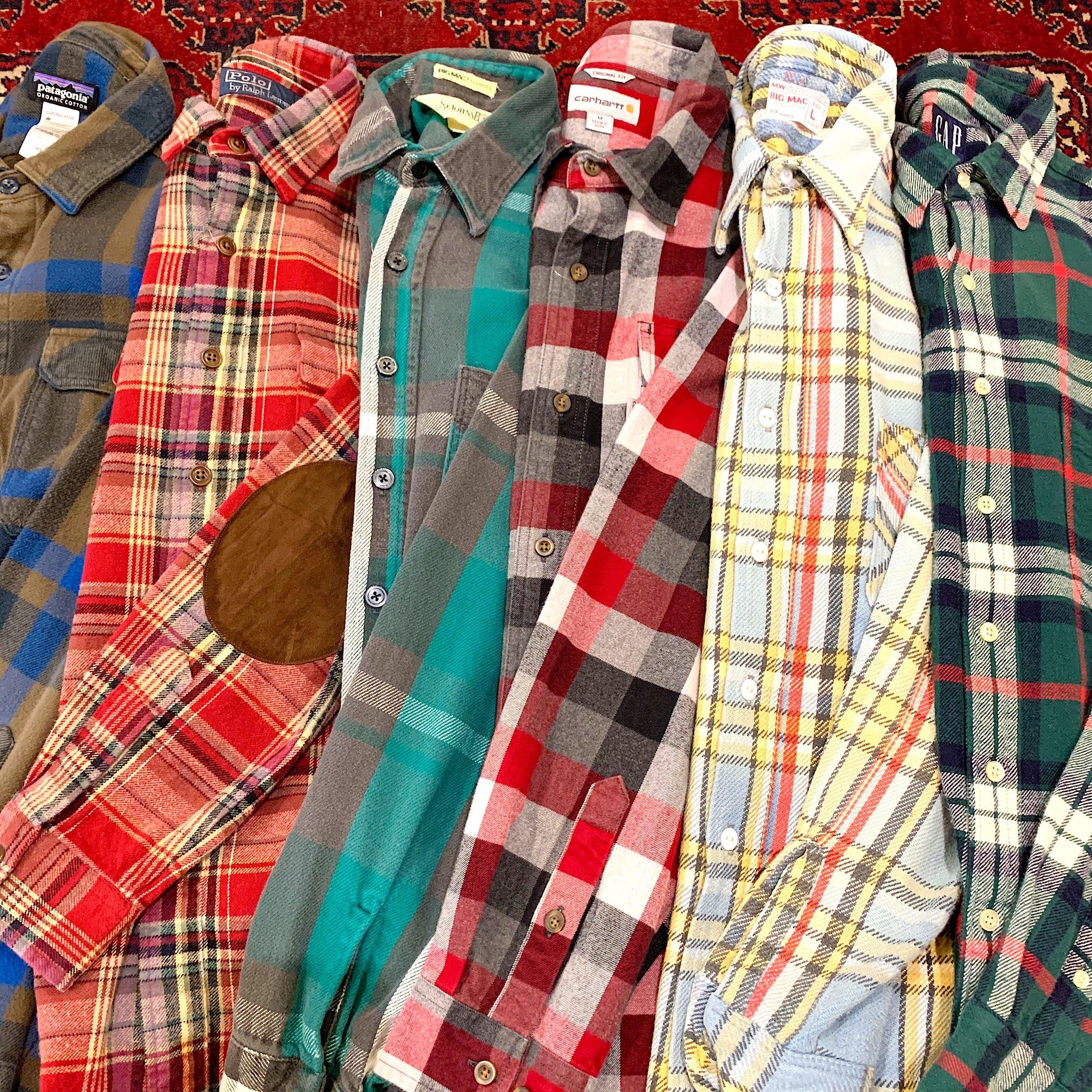 古着屋JAMのチェック柄シャツ