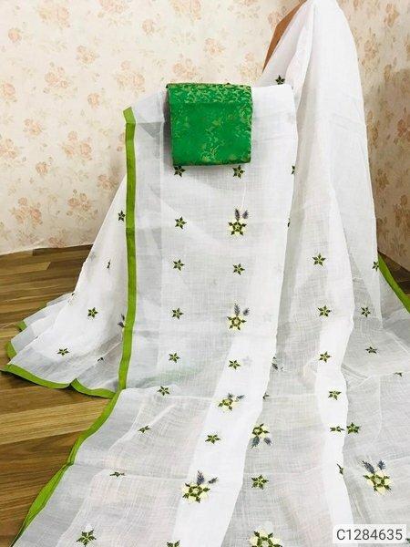 New Solid Chanderi Silk Sarees With Embroidered It has 1Pc of Saree and 1Pc of Blouse Chanderi Silk 5.5 + 0.80 Mtr Saree: Embroidered , Blouse: Jacquard #SyntheticSaree #NetSaree #UniqueSaree #CottonSaree #Silksaree #FancySaree #PrintedSaree #TheHaricoGroup  #BsmHaricoTextilespic.twitter.com/K366Dj1kju – at Rishra Station