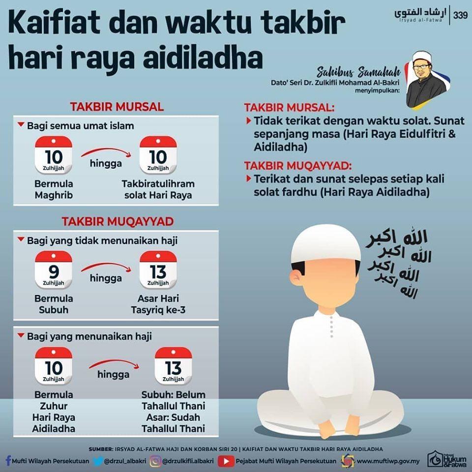 Zayan On Twitter Repost Drzulkifli Albakri Kaifiat Dan Waktu Takbir Hari Raya Aidiladha Indahdihati