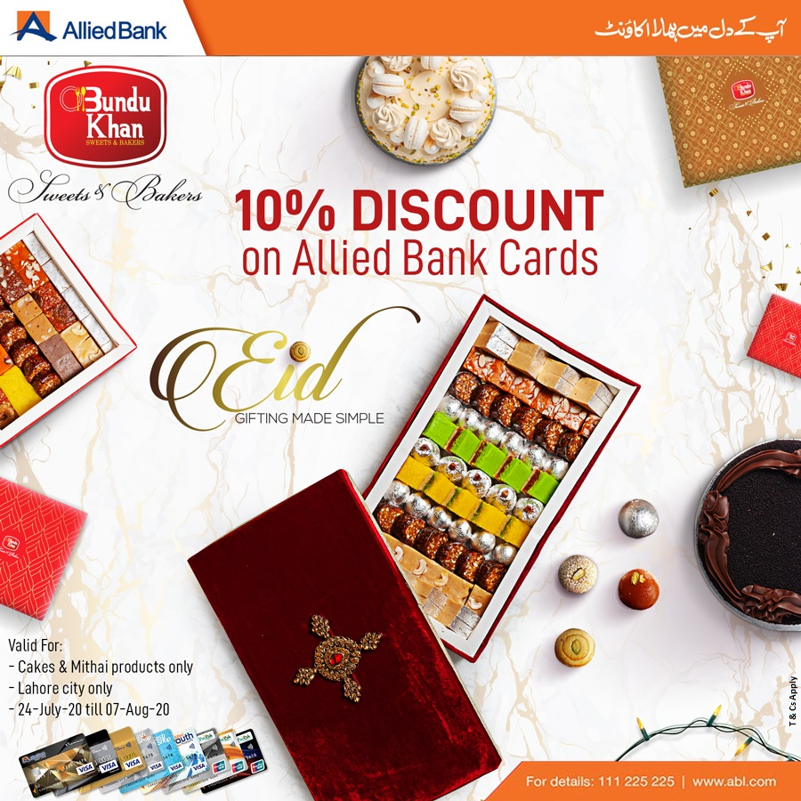 Relish your favorite cakes and sweets at Bundu Khan and avail flat 10% discount with #ABLCards.  For details visit: https://t.co/pyZaL8lix0 Terms & Conditions Apply! https://t.co/VVitUjV8i1