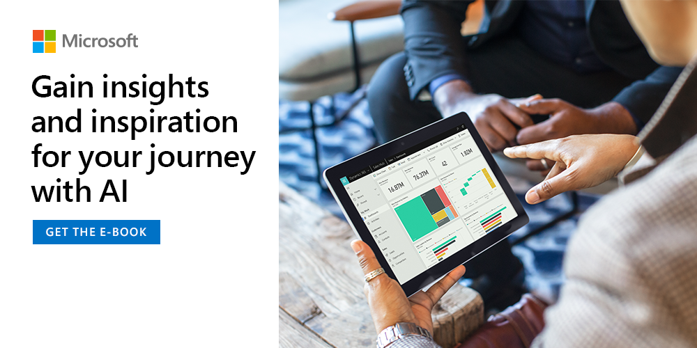 Download this e-book to learn how AI is helping drive unprecedented value from data gathered within Microsoft's workplace. https://t.co/KP6mi1Y6AO https://t.co/ggs7SP8Ldo
