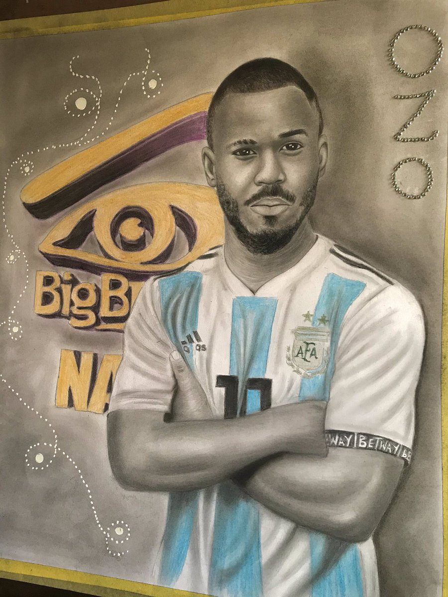 Hi guys, this is my entry for the Betway flex your ink challenge #BetwayFYI I decided to draw @OfficialOzoBBN as a footballer. Please I need your likes, comments & retweets to win this challenge 🙏 #BetwayGameOn #BBNaija #BBNaijaLockdown
