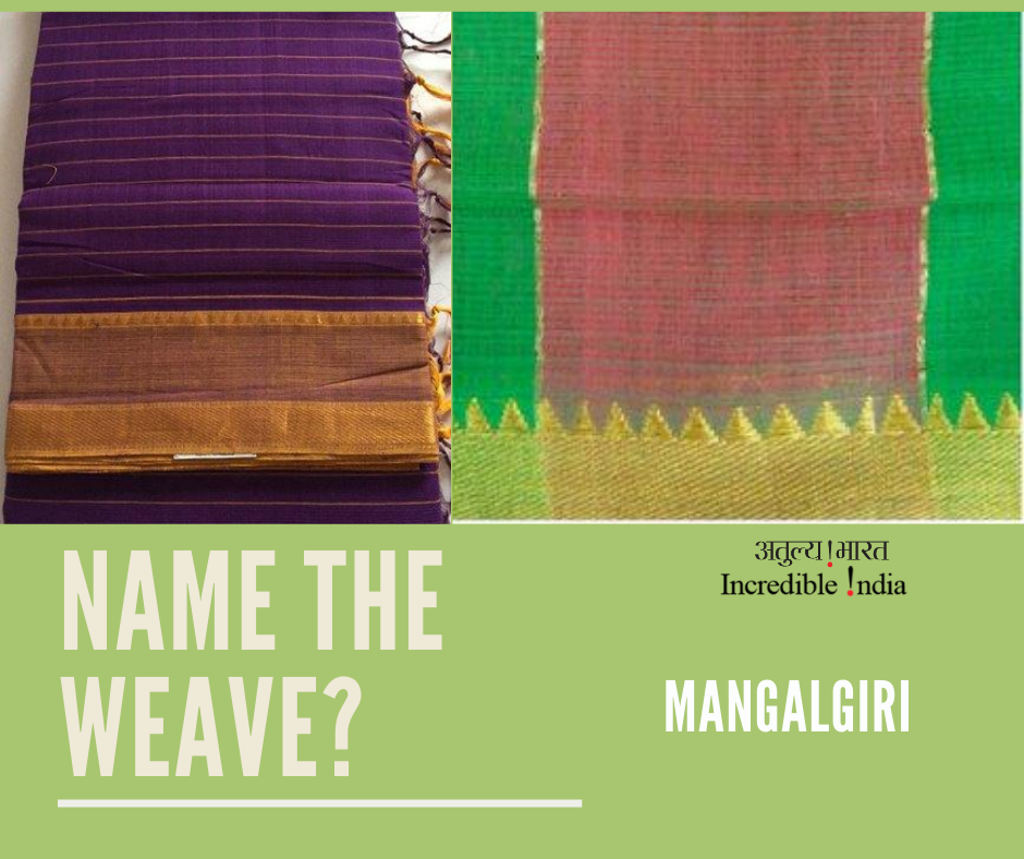 Mangalagiri saree is a beautiful fabric of heritage that's more than 500 years old, bearing geographical indication of Guntur, Andhra Pradesh and a famous gift item for generations! #VocalForLocal @Tourism_AP