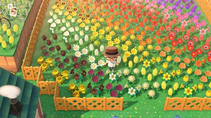 花 グラデーション あつ森
