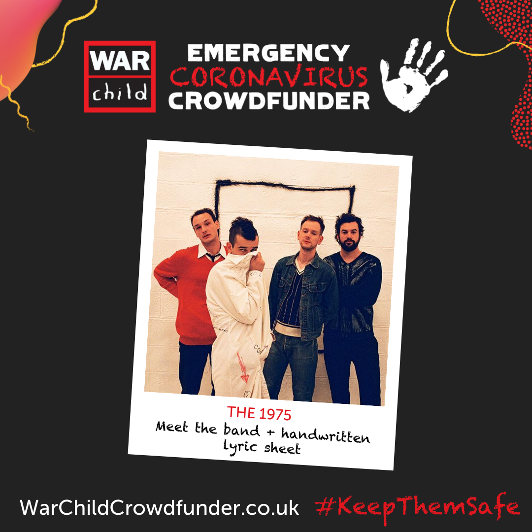 Enter the prize draw for your chance to meet @the1975 and watch the show of your choice on their next tour anywhere in the world! Entries cost £5 and the money raised goes towards our emergency coronavirus response. https://t.co/E2gtm2dF4L #KeepThemSafe #The1975 https://t.co/0QQixcMrPb