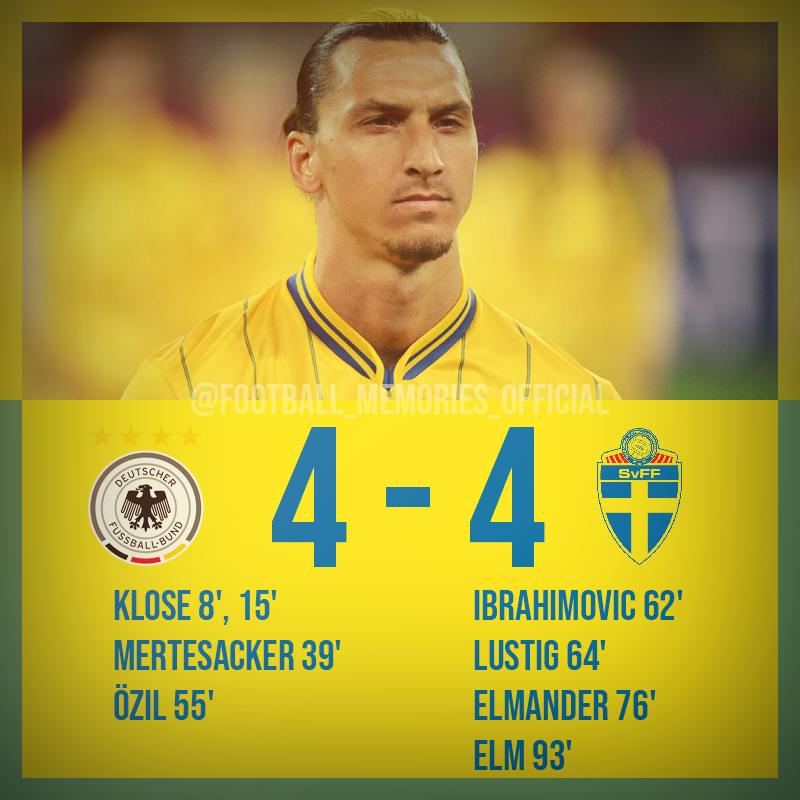 World Cup 2014 Qualifiers,Sweden staged an extraordinary comeback in their World Cup qualifier with Germany, fighting back from 4-0 down with 30 minutes left to draw 4-4  #footballmemories #ekdal #ibrahimovic #zlatanibrahimovic #sverige#stockholm #uppsala #göteborg #helsingborgpic.twitter.com/h790BplaoX