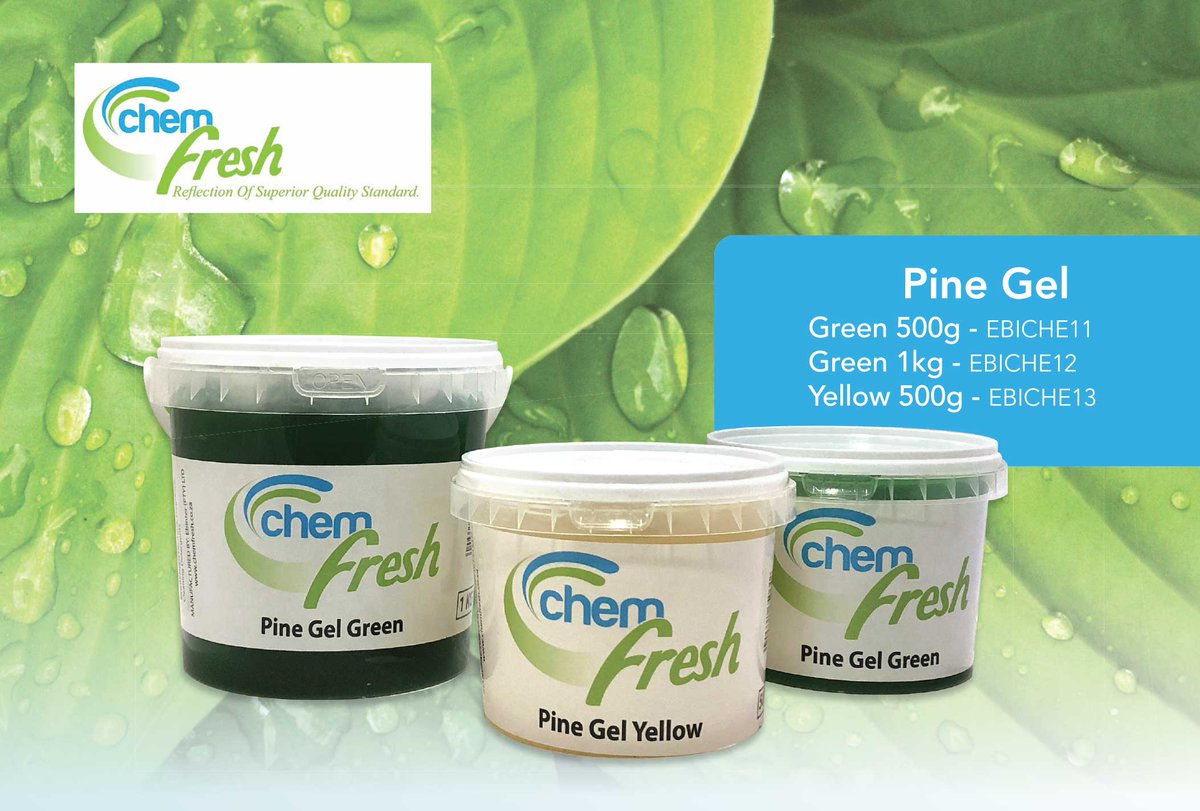 Chem Fresh Pine Gel Range Pine gel can be used on surfaces that requires cleaning and disinfecting. Chem fresh pine gel (green & yellow) works best on walls, bathrooms, tiles and floors. your surface will have a pleasant pine perfumes. #mychemfresh #chemfreshpinegelrange https://t.co/MUxtCrib4d
