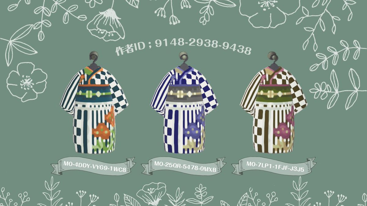 アネモネな帯の浴衣ありがたいことにお声いただき…!#マイデザイン 投稿しました全部で3色(*´˘`*)モダンな雰囲気でるだろか…!°˖✧現実味のない大きいお花が後ろについてるところがかわいいよ←アプデ、花火大会、ひと夏の思い出に...🎆#あつまれどうぶつの森#あつ森#マイデザイン配布
