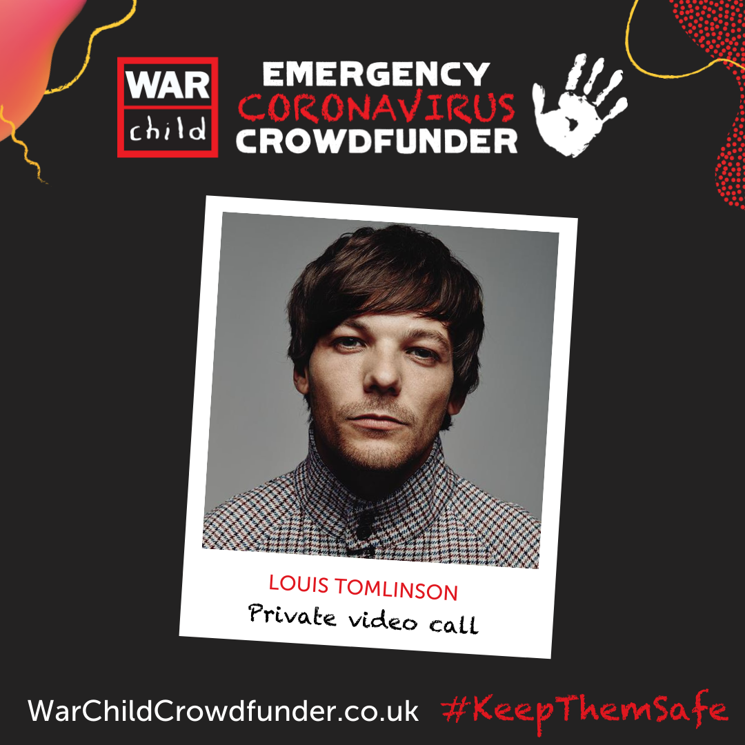 Enter the prize draw for your chance to meet acclaimed solo artist @Louis_Tomlinson for a private video call! Entries cost £5 and the money raised goes towards our emergency coronavirus response. bit.ly/334526T #KeepThemSafe #LouisTomlinson #OneDirection