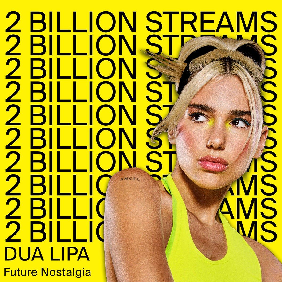❣️2 BILLION STREAMS on @DUALIPAs Future Nostalgia❣️