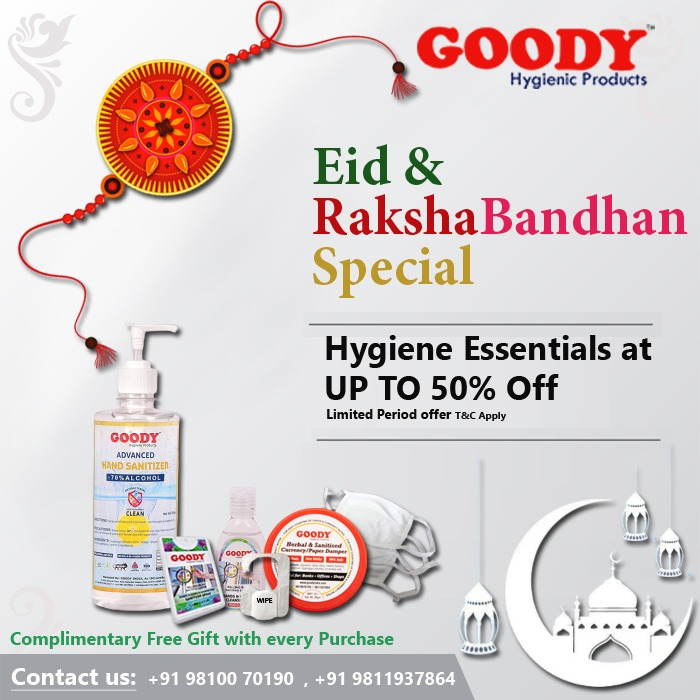 Goody India Special Festive Eid & Rakshabandhan Special Offer 50% Off with Free Gift with every order.  (Limited Period offer T&C Apply.)  To order :https://t.co/h8soAdYDIM https://t.co/b5iIRisoye