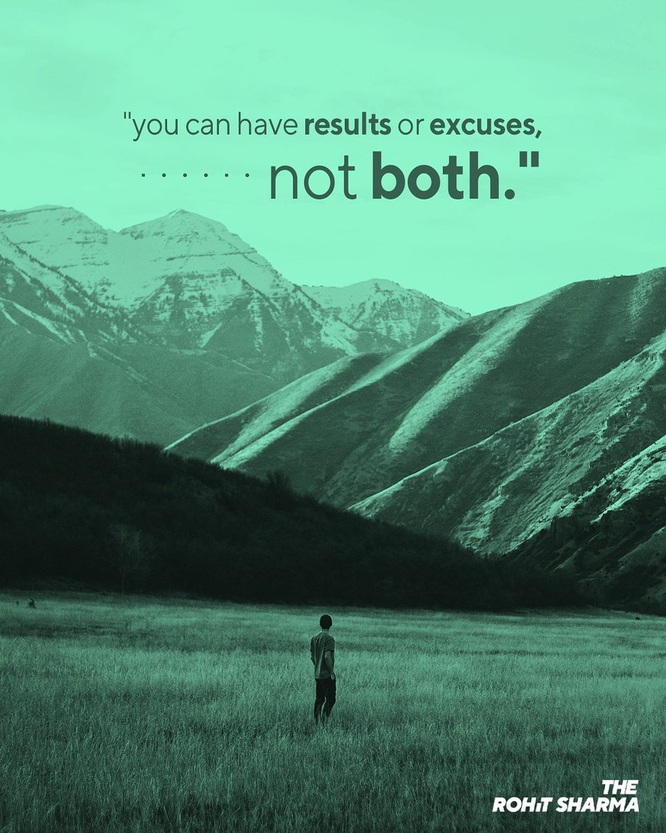 """""""You can have results or excuses, not both."""" If you're looking for creative Graphic Designer.@therohitsharmap Designed By:- The Rohit Sharma #therohitsharmapdt #motivationquote #motivation101 #motivationmafia #motivation#motivational_quotes #motivationdaily #motivationalquotepic.twitter.com/2iQmH4wN9V"""