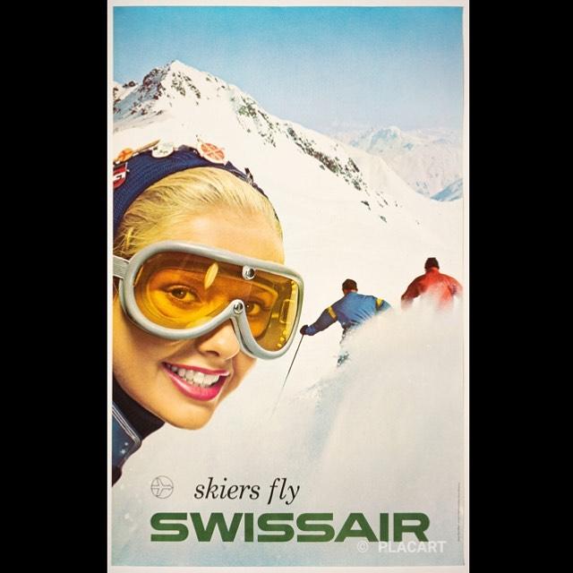"via #IVPDA member @GalleryPLACART ""Available again: Skiers Fly Swissair by Rene Bittel (1958) https://placart.ch/en/posters/ #poster #renebittel #vintageaviation #swissair #swissposter #vintageposter #skiposter #posterart #travelposter #aviationposter #afficheancienne #originalplakat""pic.twitter.com/rZsO6anK7u"